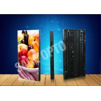 Quality Ultra Thin Transparent Glass LED Curtain Screen Advertising Aluminum Cabinet for sale