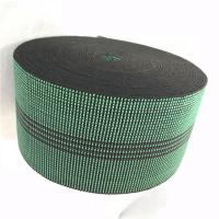 Quality 3 Inch Covered Threads Elastic Rubber Upholstery Webbing For Function Sofa In Green Color 460B# for sale