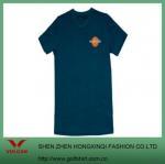 Quality Simple V-neck Dark Green T Shirt Design for sale