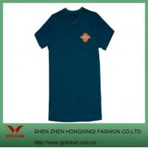 Simple V-neck Dark Green T Shirt Design