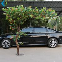 Inside Decor Artificial Maple Tree With Led Lights Green Leaves No Deformation for sale