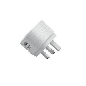 Quality Dual USB Ports ErP CE 5V2.4A UK Mains Charger AC 100-240V for sale