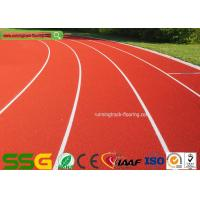 Quality Red Self - forming Surface Mixed PU Atheletic Sport Running Track 13mm Thickness for sale