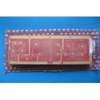 Quality 10 Layer RF High Frequency PCB With RO4350B and FR-4 Combined and red soldermask for sale