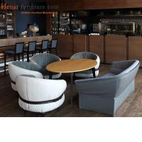 Quality Elegant Restaurant Furniture Urban Armchair With Leather Seat Standard Size for sale