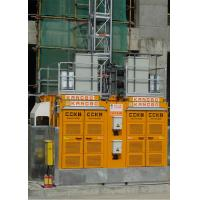 Quality Yellow Color Building Site Hoist 8 Rack Module With Frequency Control Motors for sale