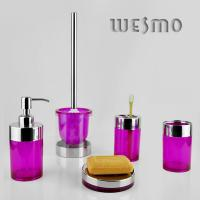 Quality WBL0203A Purplish Red Plastic Complete Bathroom Sets for sale