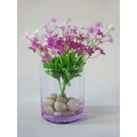 China Glass Decorative Flower Vase Cylinder Glass Vases For Centerpieces on sale