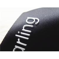 Quality Smooth Black Ribbon Silicone Screen Printing Label Thick Plate White 3D Logo for sale
