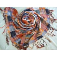 Quality Yarn Dyed Checked Cotton Scarf (HP-C262) for sale