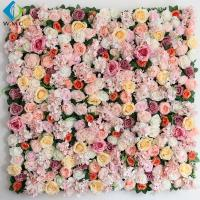 Shop Decoration Artificial Vertical Garden , Peony Roses Artificial Flower Wall for sale