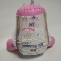 Quality High Absorbing Overnight Disposable Baby Diaper Elastic waist for sale