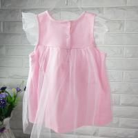 Quality new fashion  baby girl summer dress pink princess dress kids dress for girls dress fastion baby girl clothes dress set for sale