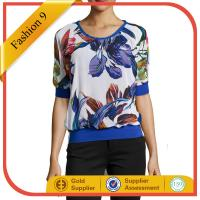 China Floral Scoop-Neck Blouse on sale