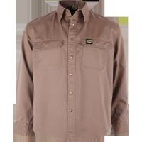 Quality Brown fireproof overall Uniform Work Shirts Flame retardant workwear for sale