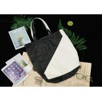 China Two Colors Splicing Recyclable Tote Bag , Breathable Dupont Paper Bag For Shopping on sale