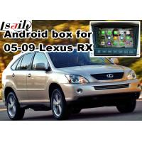 Quality Lexus RX330 RX400h XU30 2005-2009 Android Navigation Box , mirror link video interface 360 panoram for sale