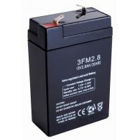 China Buildings safty fire alarms Emergency Lights FM Battery Replacement (6v 2.8ah) on sale