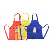 China Plastic Waterproof Promotional Printed Aprons Kitchen Personalised Cotton Apron on sale