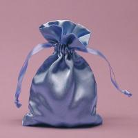 Quality Silk Screen Printed Elegant Satin Drawstring Bag For Jewelry Necklaces for sale