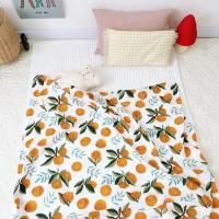 Quality Cotton Muslin Receiving Blankets Skin Friendly  Tummy Time Blankets Reactive Printing for sale