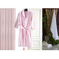 China Jacquard Comfortable Hotel Luxury Bath Robes , Women's / Mens Luxury Towelling Bathrobe on sale