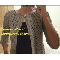 Buy cheap Casual Loose Comfort Cardigans Sweaters Batwing Sleeve Solid Color Crocheted from wholesalers