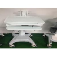 Quality Medical Working Station Patient Monitor Stand Hydraulic Laptop Computer Cart for sale