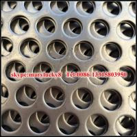 Quality Staggered 60 aluminum perforated metal screen sheet for sale