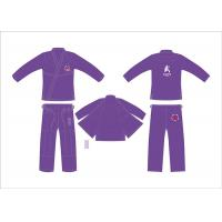 China Customerized Hemp Bjj Gi Competition Purple Brazilian Jiu Jitsu Kimono on sale