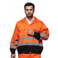 China Outdoor Twill Fabric High Visibility Work Uniforms With Multi Pockets EN ISO 20471 on sale