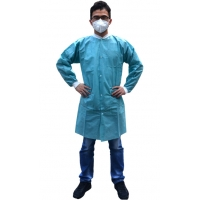 China Hospital Disposable Lab Coats With Knitted Collar on sale