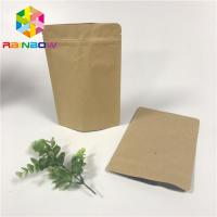 China Aluminum Foil Stand Up Pouch Bags , Ziplock Stand Up Pouches Gravure Printing With Valve on sale