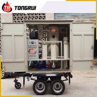 Quality Double Stage Vacuum Used Transformer Oil Purification Machine ZJA With Trailer for sale