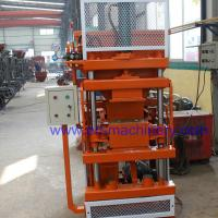 China Manual Interlocking Brick Making Machine 1-10 Mortarless Block Machines with Mixer on sale