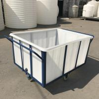 China K400 Heavy duty durable Rotationally Moulded 400 Litre Linen Trolley for textile industrial on sale