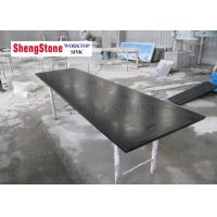 China Custom Made Black Color Epoxy Resin Worktop , Flat Edge Epoxy Benchtop on sale