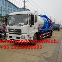 Quality Dongfeng LHD 6 wheels dongfeng sewage vacuum suction tank truck 12m3 for sale, China made sludge tanker truck for sale for sale
