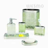 Buy Polyresin Bathroom Set Vanity Set Decorated With Embossing Flowers (WBP0818A) at wholesale prices