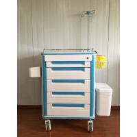 China Durable Doctor Drug Delivery Medicine Crash Cart With 5 Inch Caster Wheel on sale