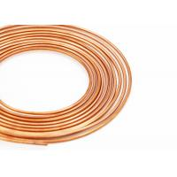Quality Smooth Surface Thin Copper Pipe , Soft Pancake Refrigeration Copper Tubing for sale