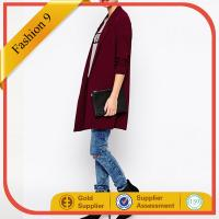 China Red Crepe Duster Coat on sale