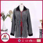 Quality New Design Most Popular Melange Yarn Grey Coral Fleece Bathrobe for sale
