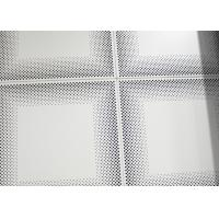 China Metal Front Perforated Aluminum Acoustic Panels for Ceiling 12 x 12 Ceiling Tiles , SGS on sale
