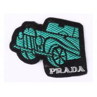 China Green Car Embroidered Sew On Badges Bullion Embroidered Motorcycle Patches on sale