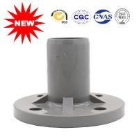 China Water Supply UPVC Pipe Fittings , Single Gray T/S Flange For Drain on sale