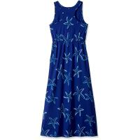 Quality Blue Starfish Printing Little Girl Summer Dresses Kids Sleeveless Dress Round Neck for sale