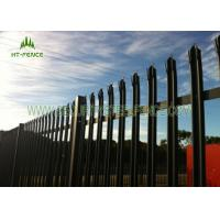 Quality High Security Steel Galvanised Palisade Fencing 2.4 × 2.75m With Razor Wire Top for sale