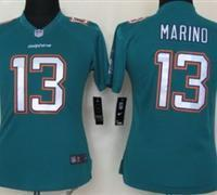 China Women NEW Miami Dolphins 13 Dan Marino Green Jerseys(2013) on sale