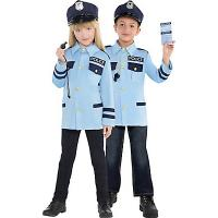 Quality Police Uniform Teen Boy Halloween Costumes Traffic Cop Cosplay for sale